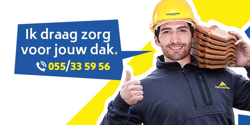 Dakwerken Verschueren regio Oudenaarde - Gent, dakwerker in actie