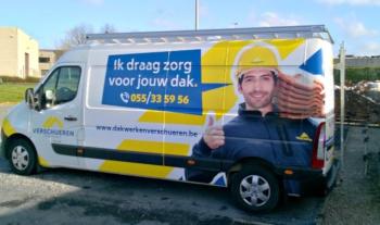 Dakwerken Verschueren Gent Oudenaarde bestelwagen dakwerkers
